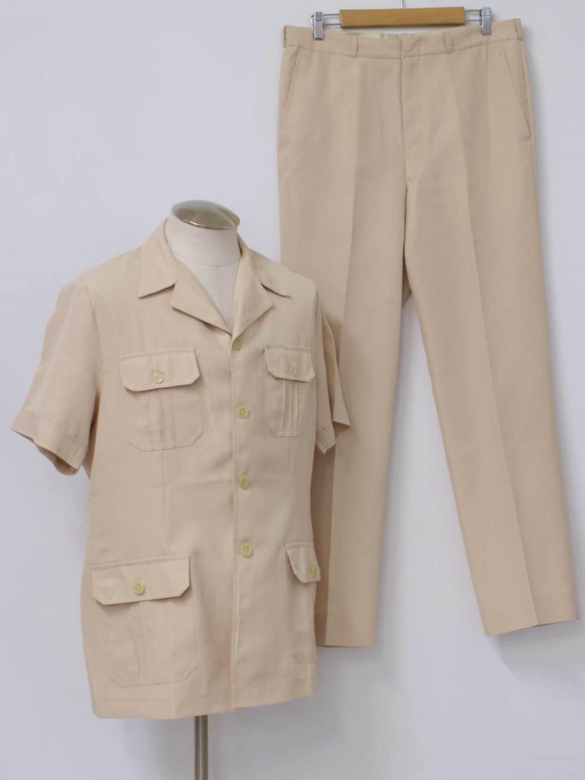 Vintage Safari Suit, Leisure Suit, Safari Jacket