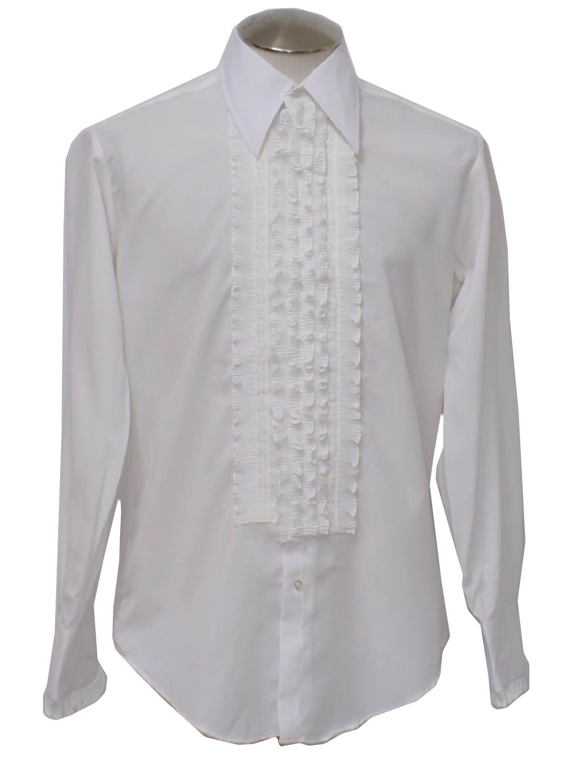 3093d703319a95 Vintage 1970 s Shirt  70s -After Six- Mens slightly sheer white ...
