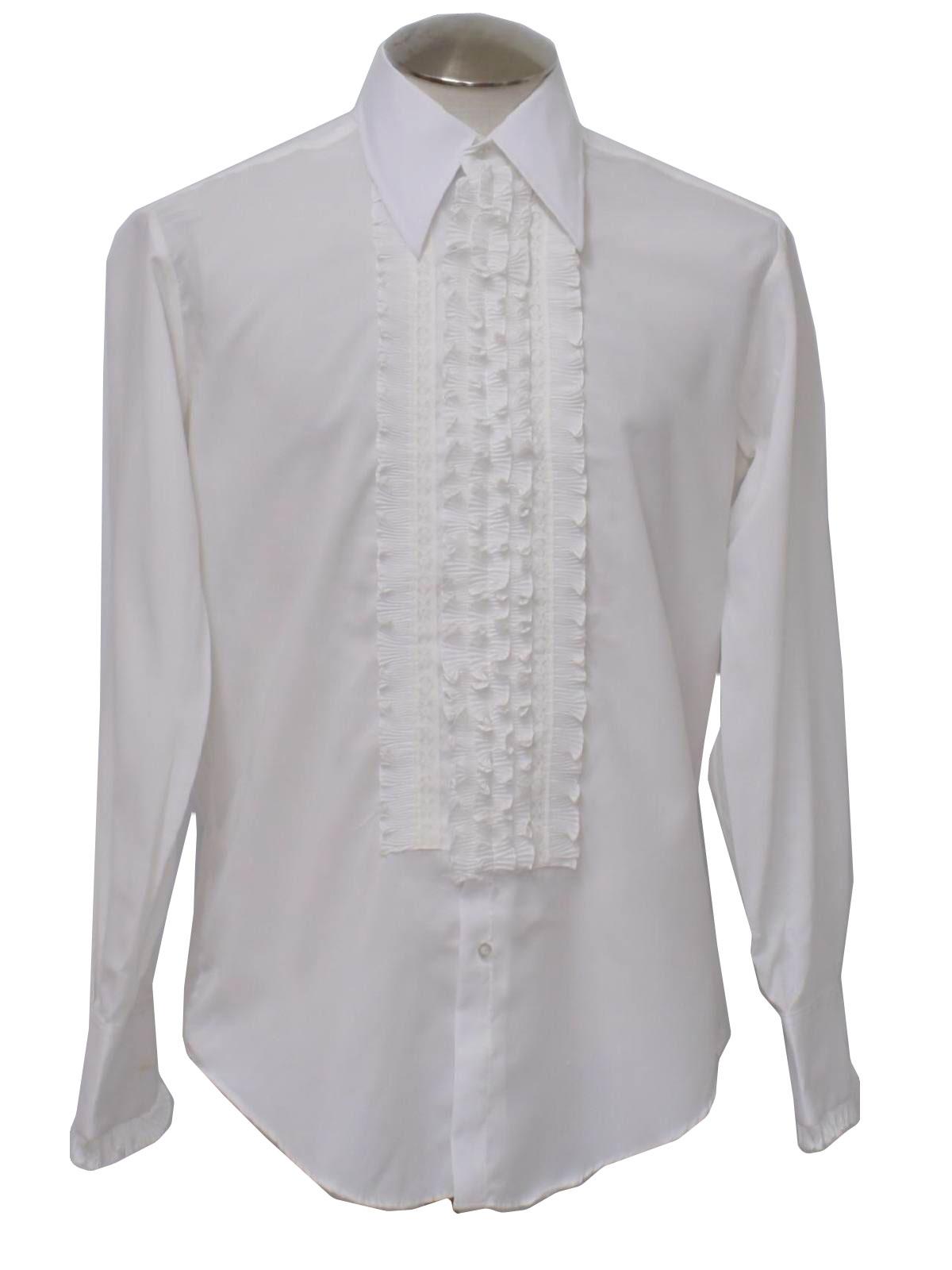Womens Tuxedo Shirt White