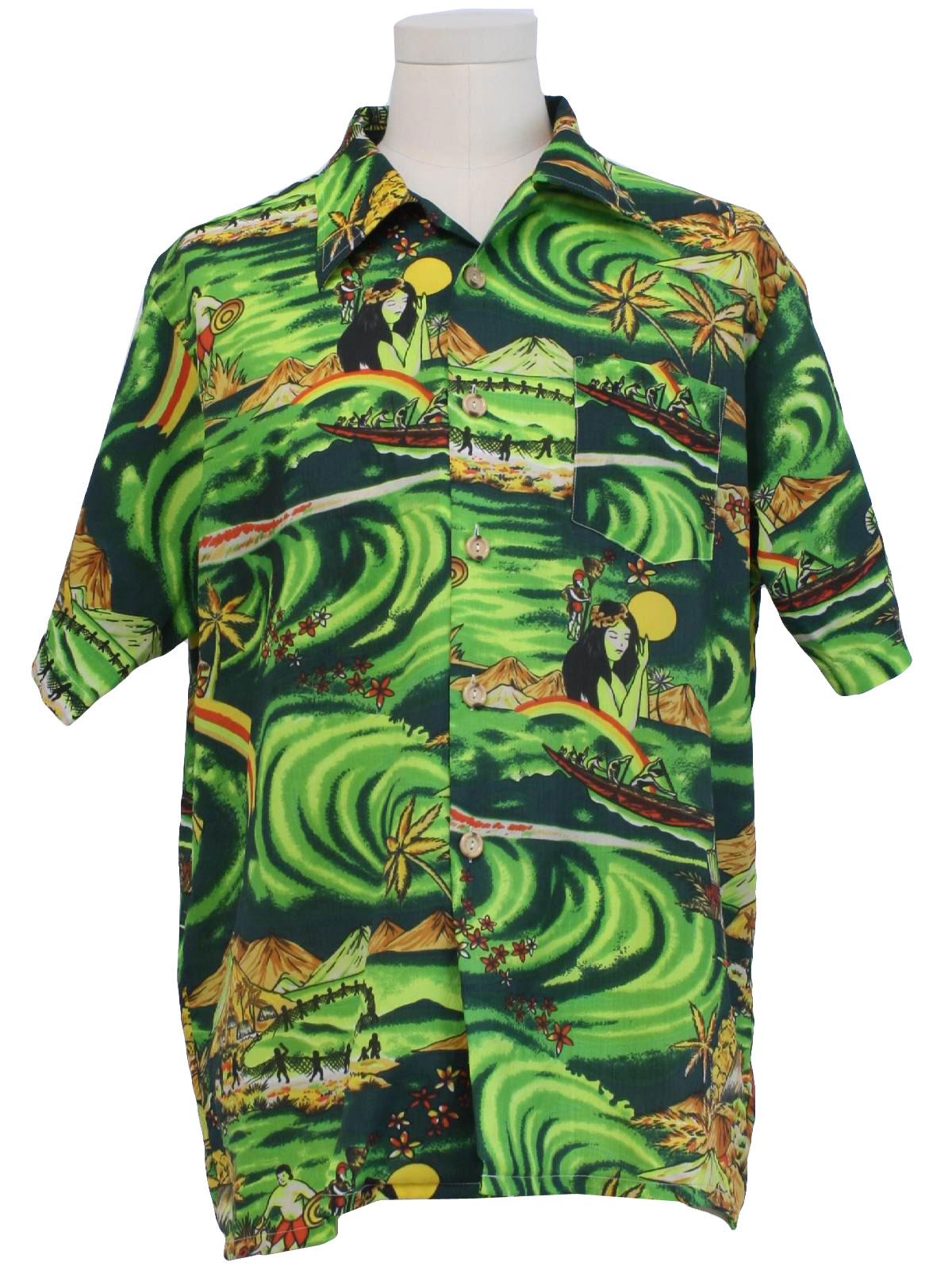 79235a600e337 1970s Towncraft JCPenney Hawaiian Shirt  70s -Towncraft JCPenney ...