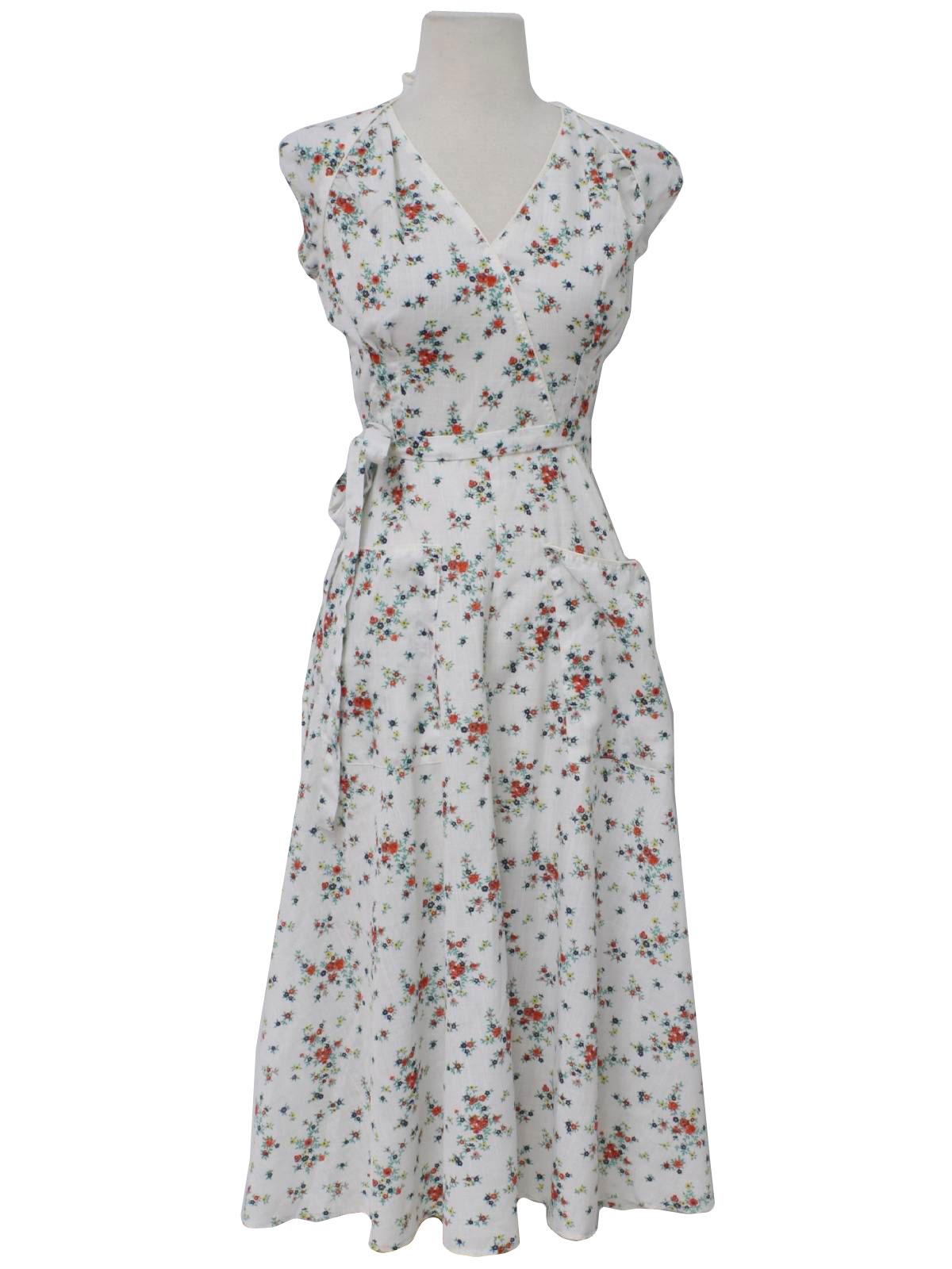 Seventies Fabric Label Hippie Dress 70s Fabric Label