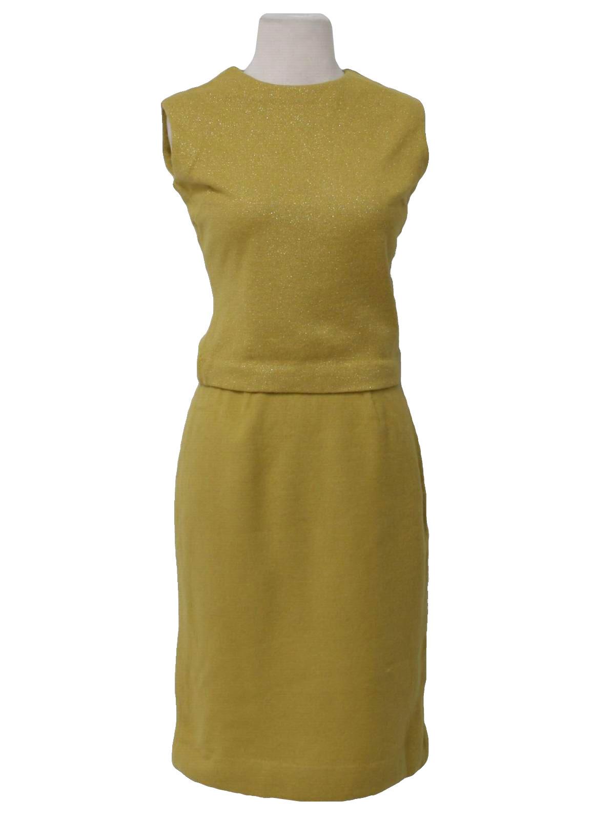 Retro 1960 S Suit Jantzen 60s Jantzen Womens Gold