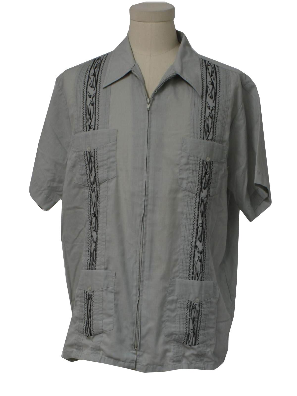 1980s vintage haband guayabera shirt 80s haband mens