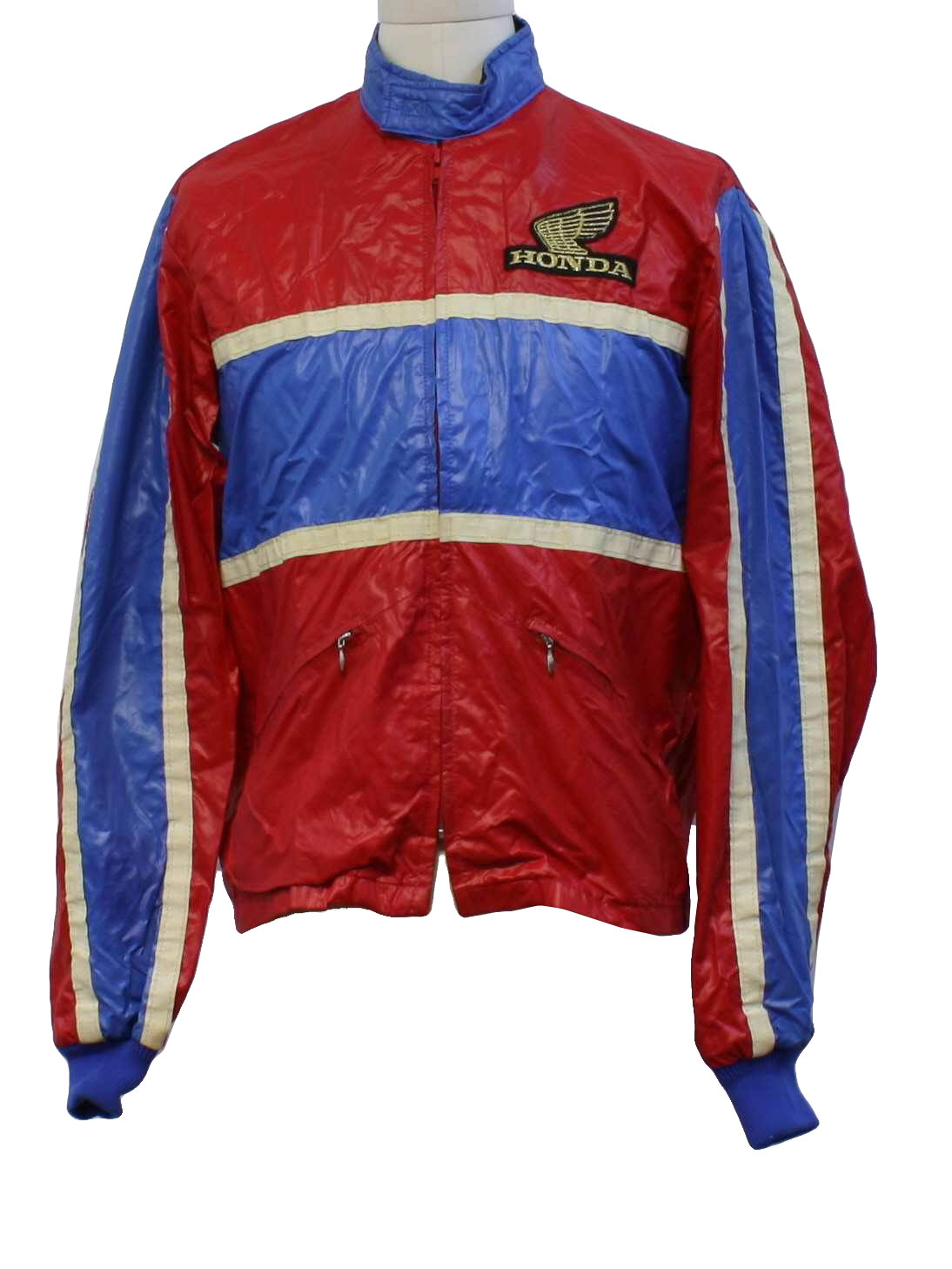 Vintage 80s Jacket 80s Hondaline Mens red white and