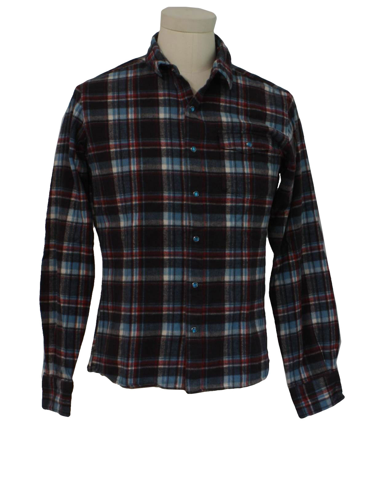1990 39 s retro shirt 90s abby vill press unisex brown for Polyester lined flannel shirts