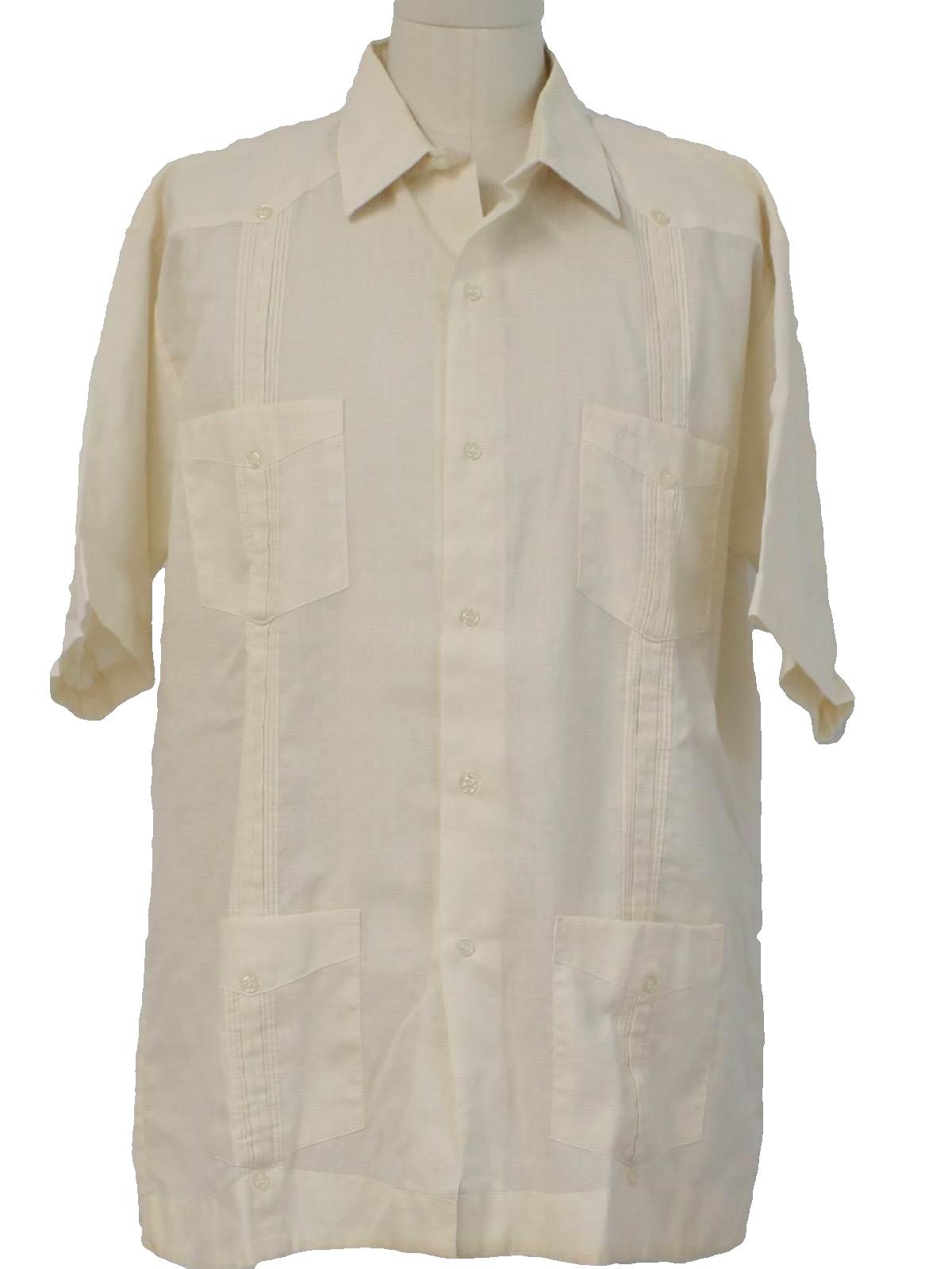 Mexican Wedding Shirt.1980 S Tropi Club Mens Guayabera Shirt