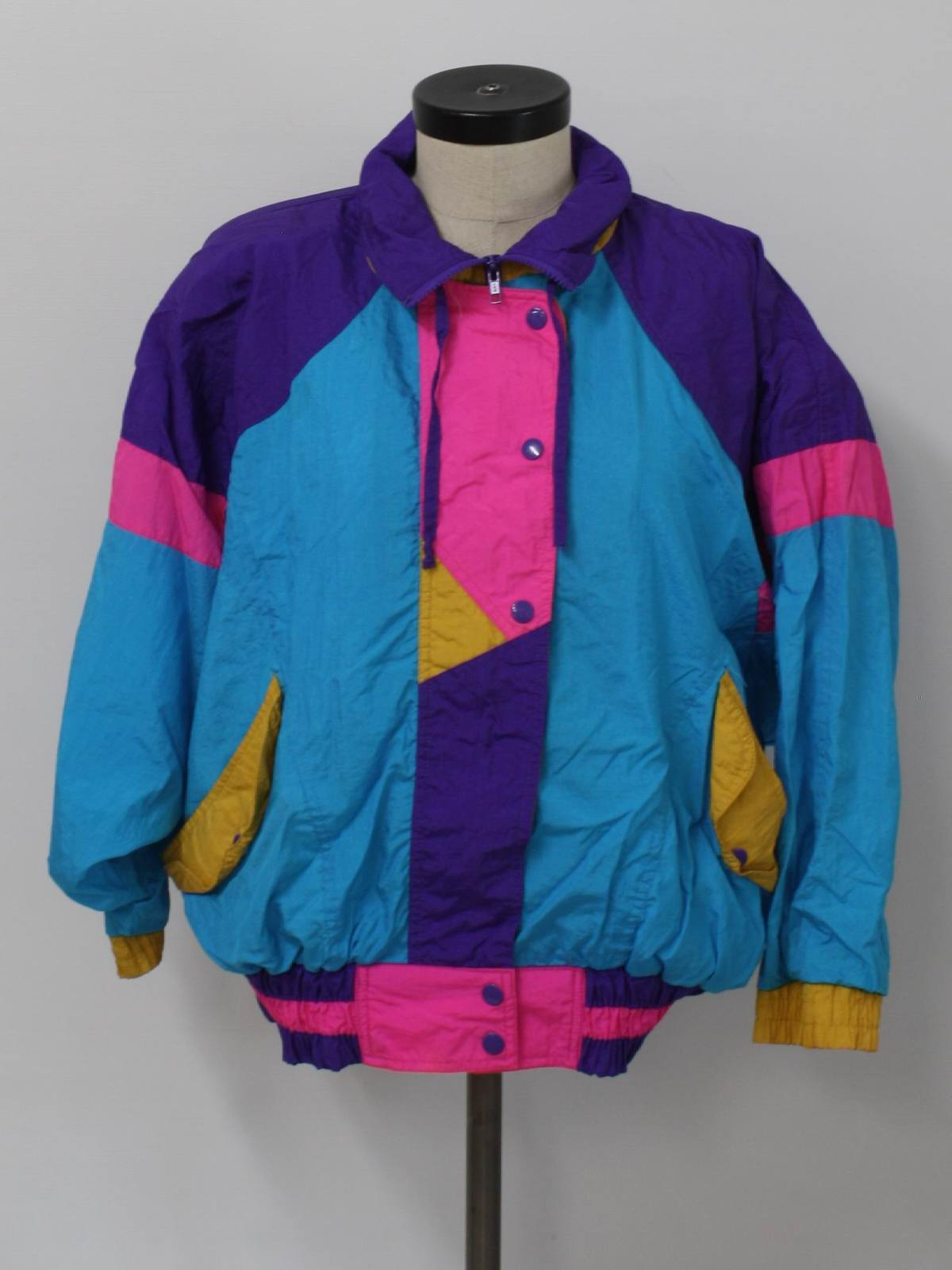80s Vintage Clothing In The Uk Just Got Easier: Vintage 80s Jacket: 80s -DB Sport- Womens Teal Blue