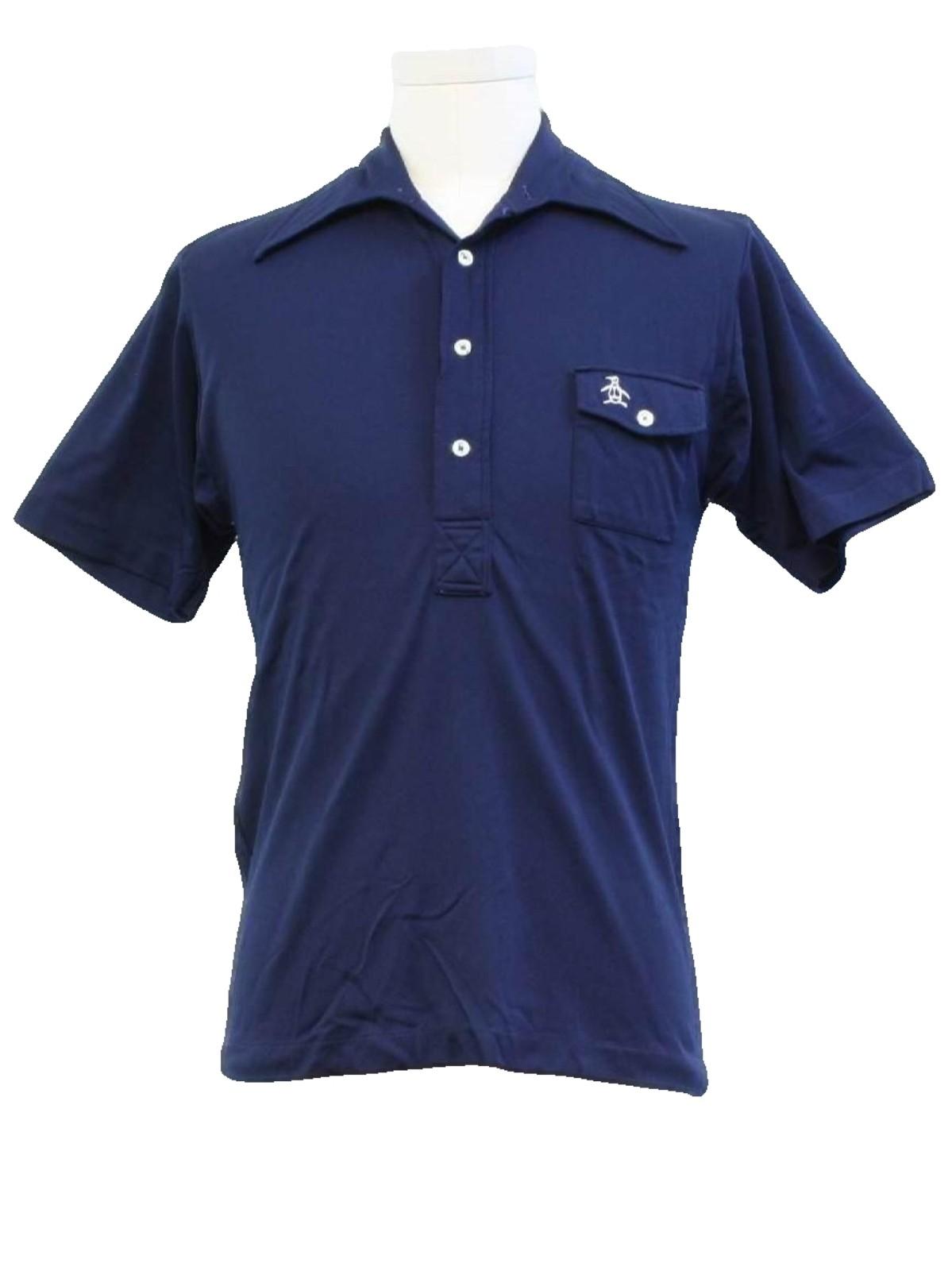 70s shirt grand slam 70s grand slam mens dark navy for Golf shirt with penguin logo