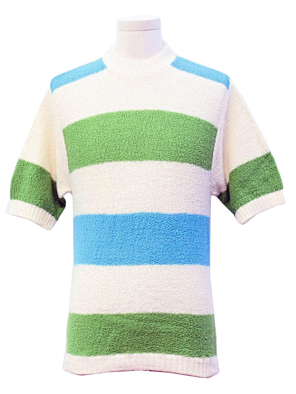 Vintage 1970 39 s knit shirt 70s jockey mens cream for Jockey full sleeve t shirts india