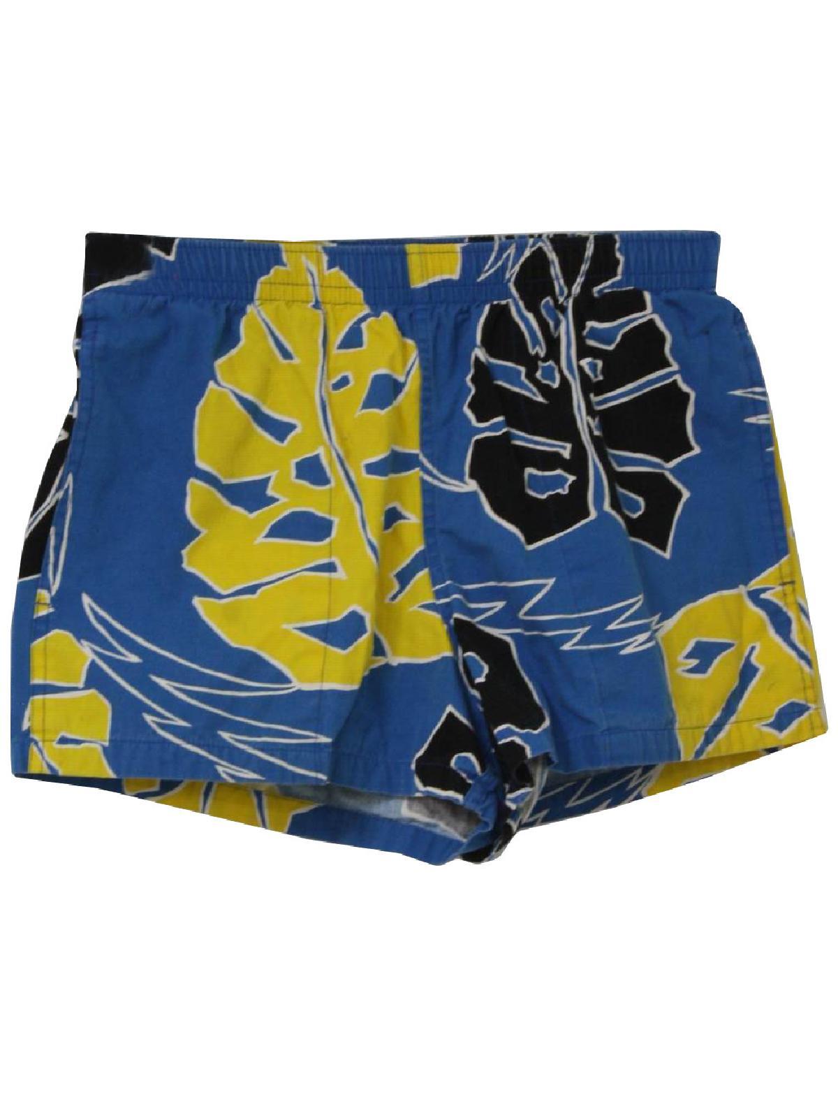 medium 80/'s tie print swim trunks