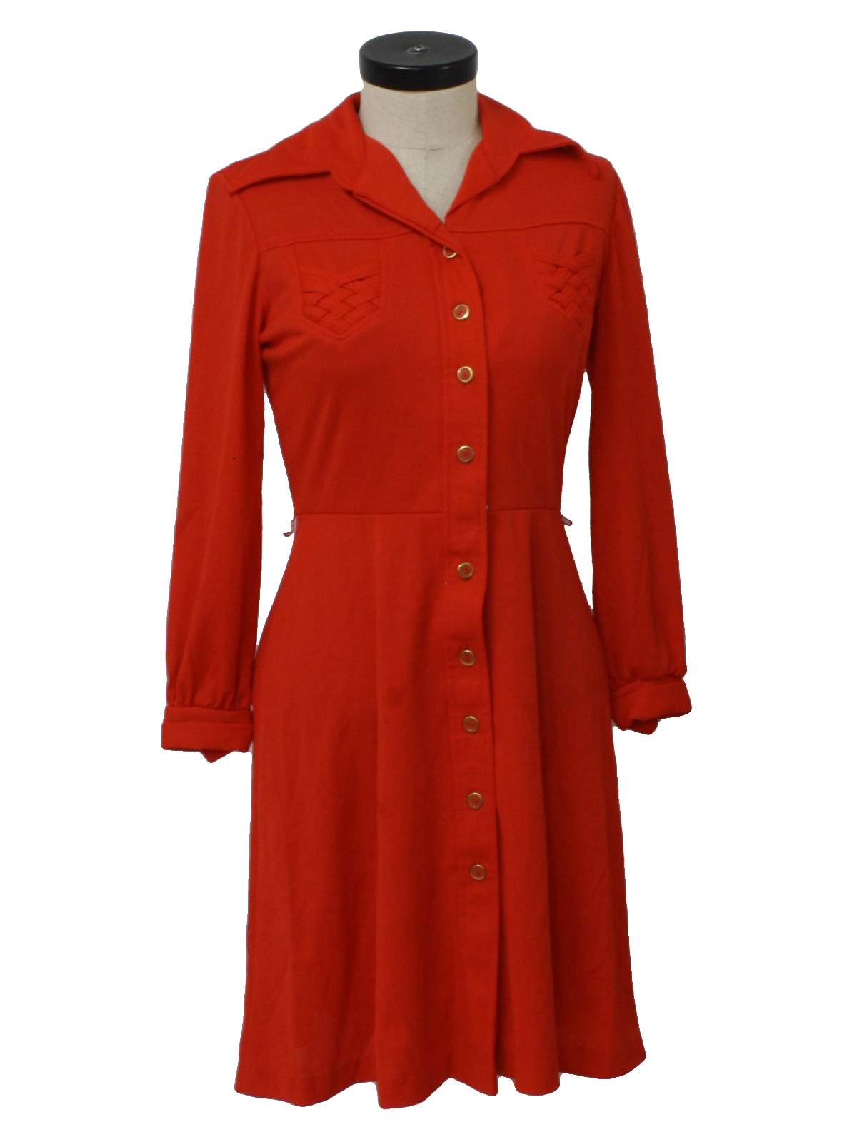 e33e405e2e9 70s Vintage JCPenney Dress  70s -JCPenney- Womens red background ...