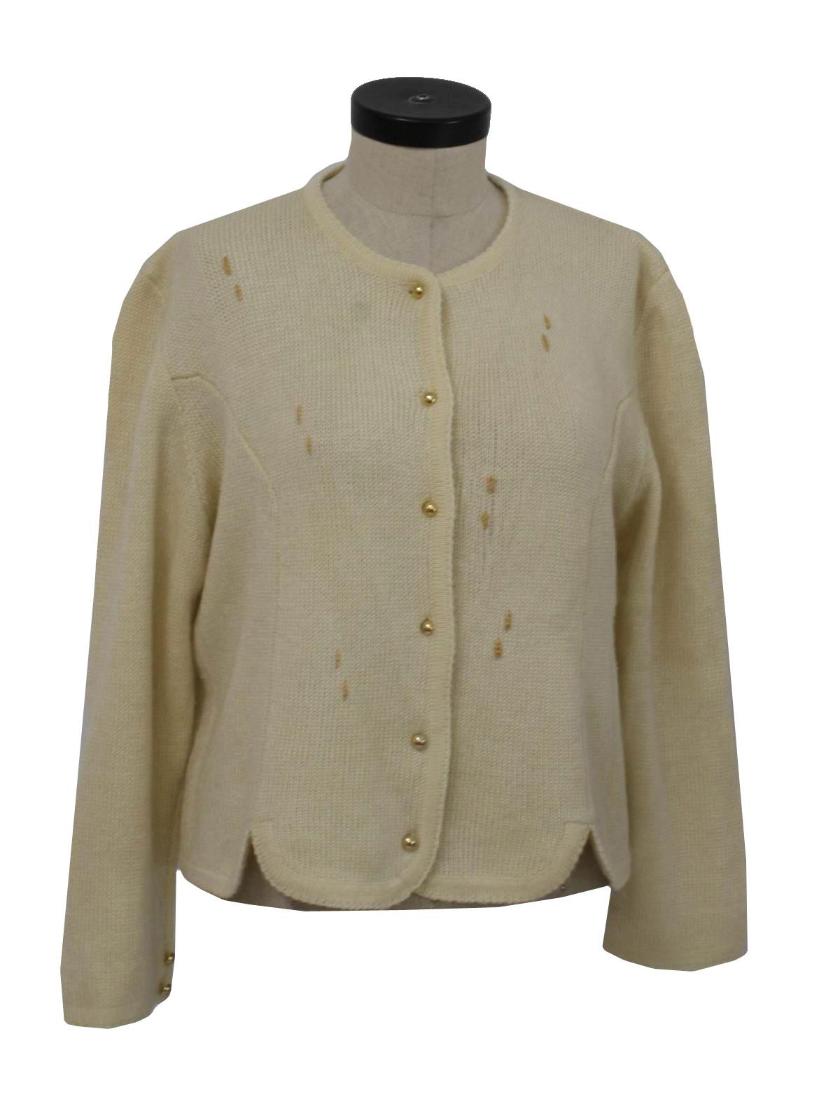 Vintage Baszio Eighties Sweater: 80s -Baszio- Womens off white ...