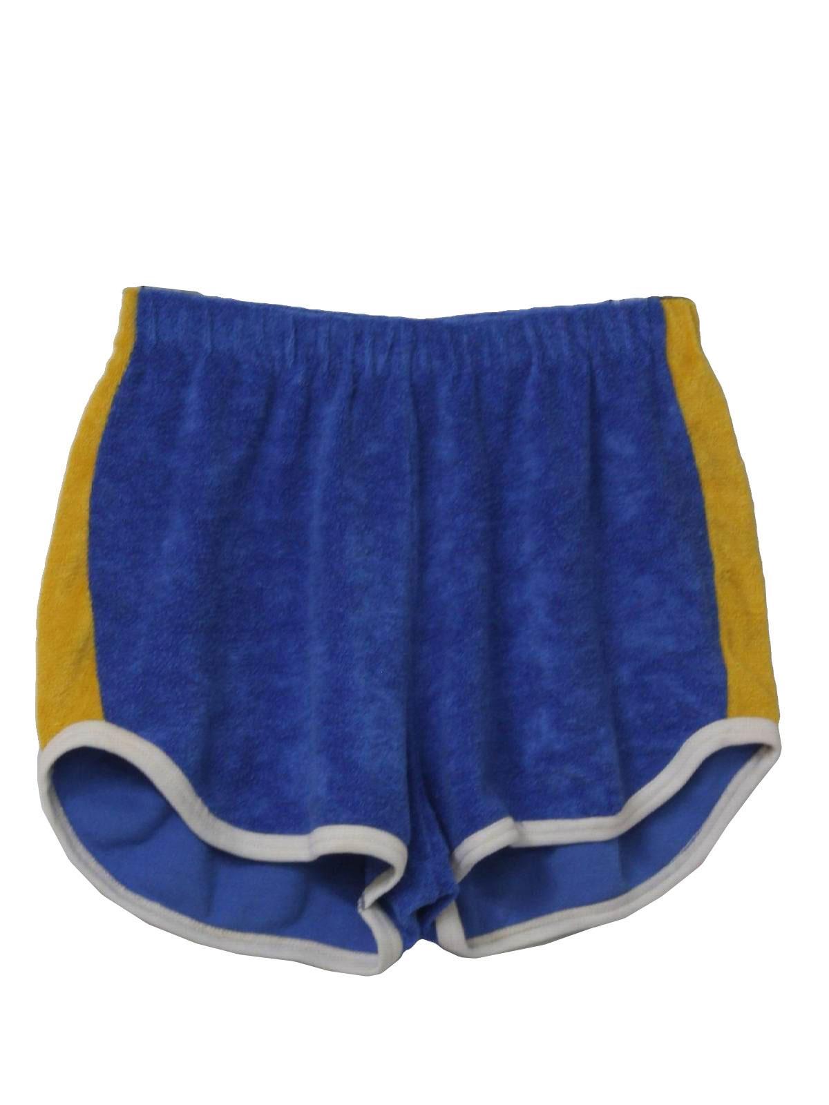 Retro 70s Shorts (Care Label) : 70s -Care Label- Mens royal blue ...