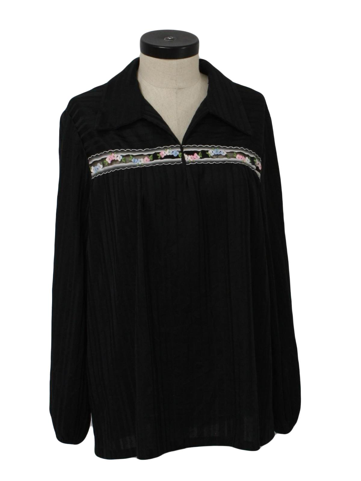 70s vintage bearti hippie shirt 70s bearti full womens for Banded bottom shirts canada