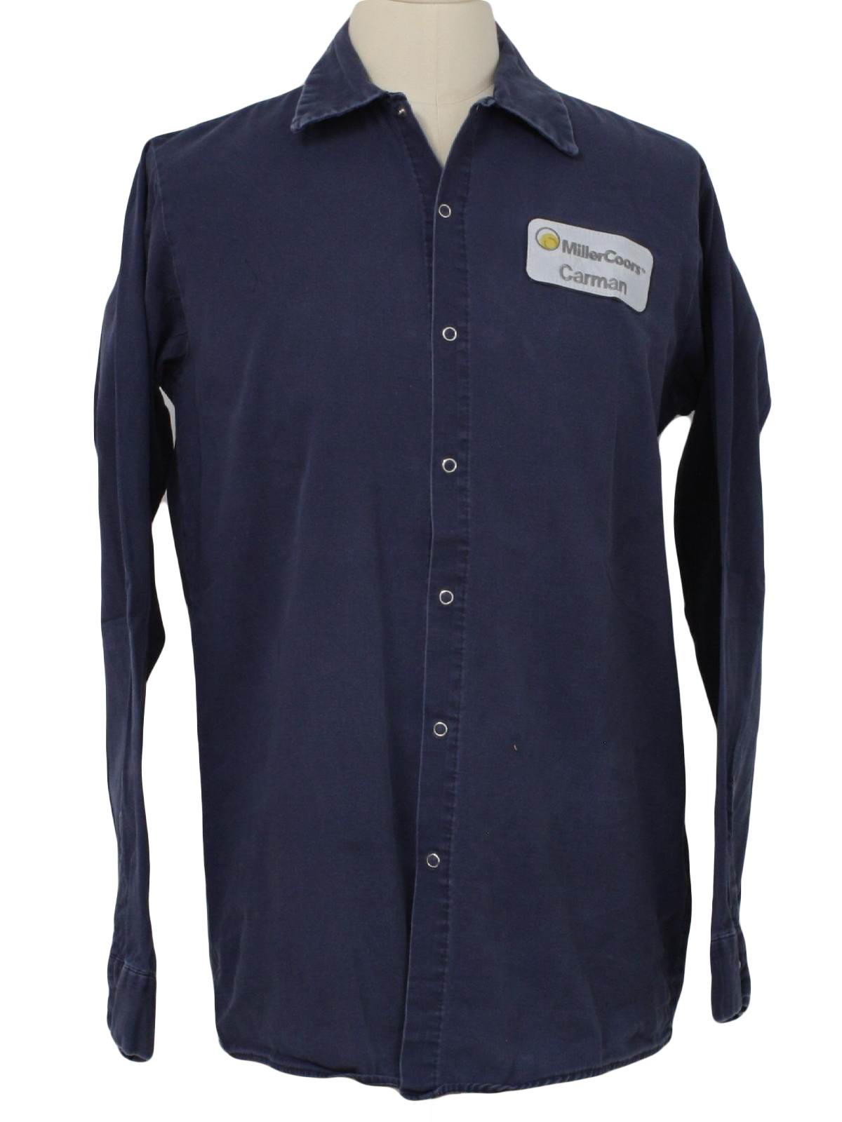 5f606314 Vintage Red Kap 1990s Shirt: 90s -Red Kap- Mens faded navy blue ...