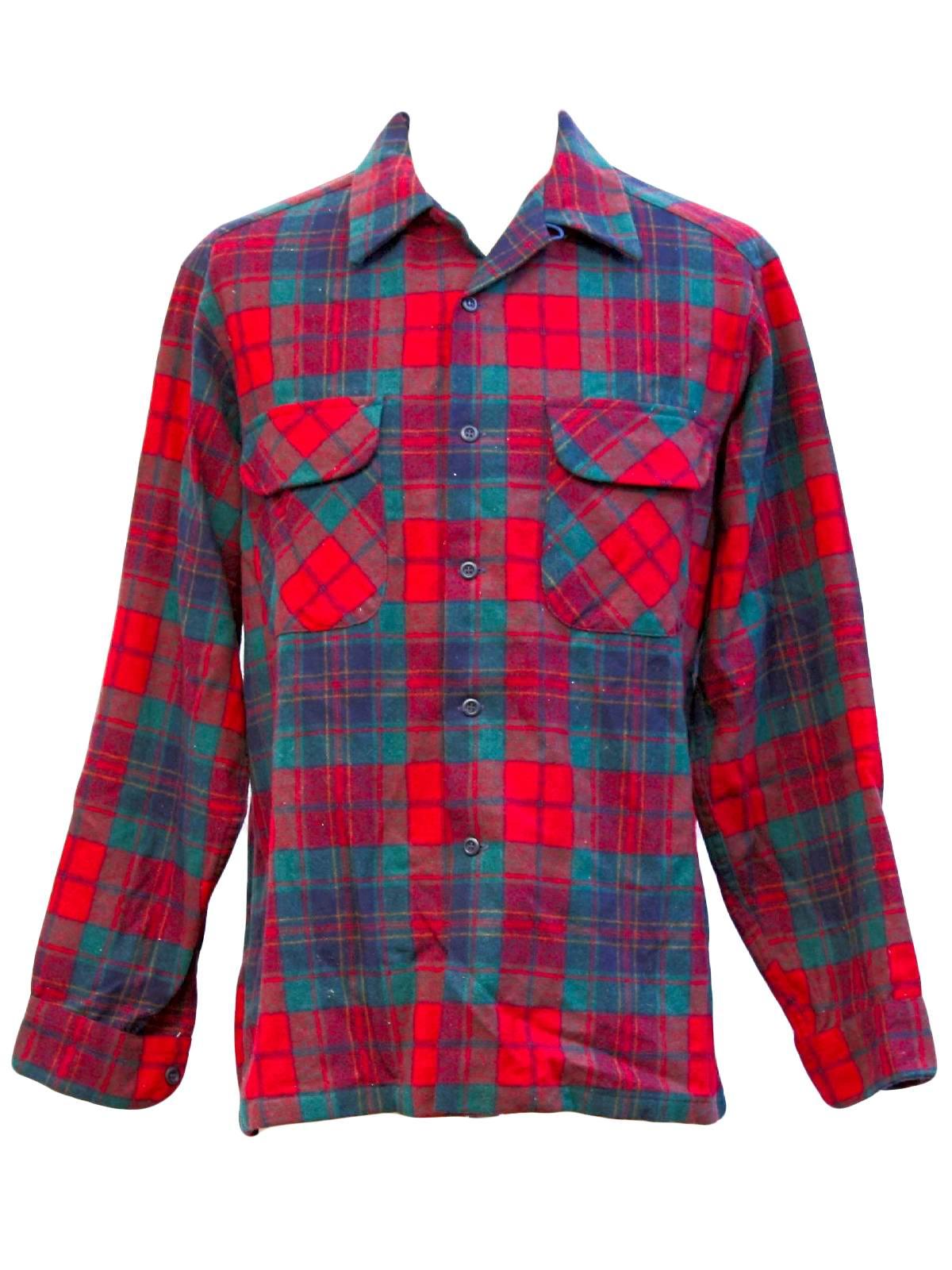 Plaid Mens Shirts