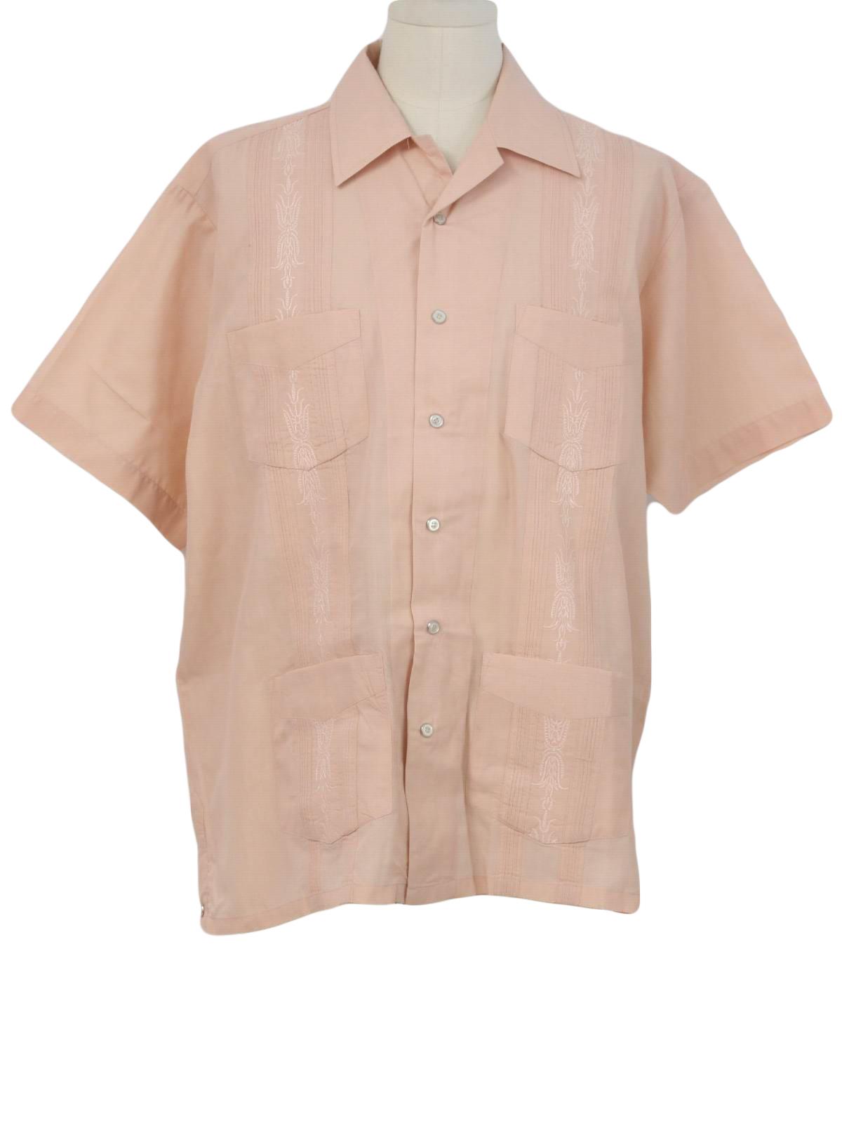 1990's Retro Guayabera Shirt: 90s -Haband Guayabera- Mens ...