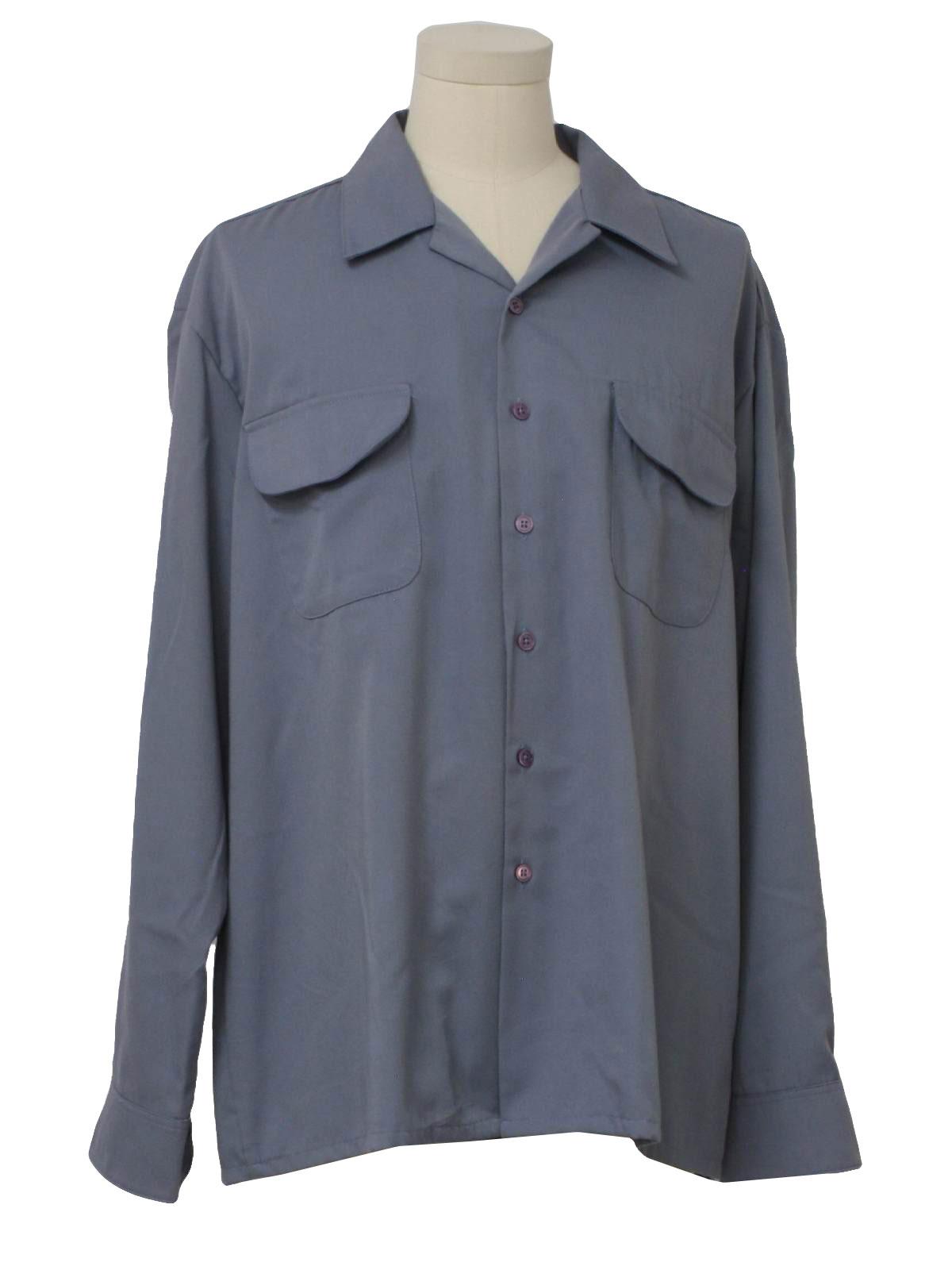 Retro 1950s Gabardine Shirt 50s Made In 90s Kennington Mens
