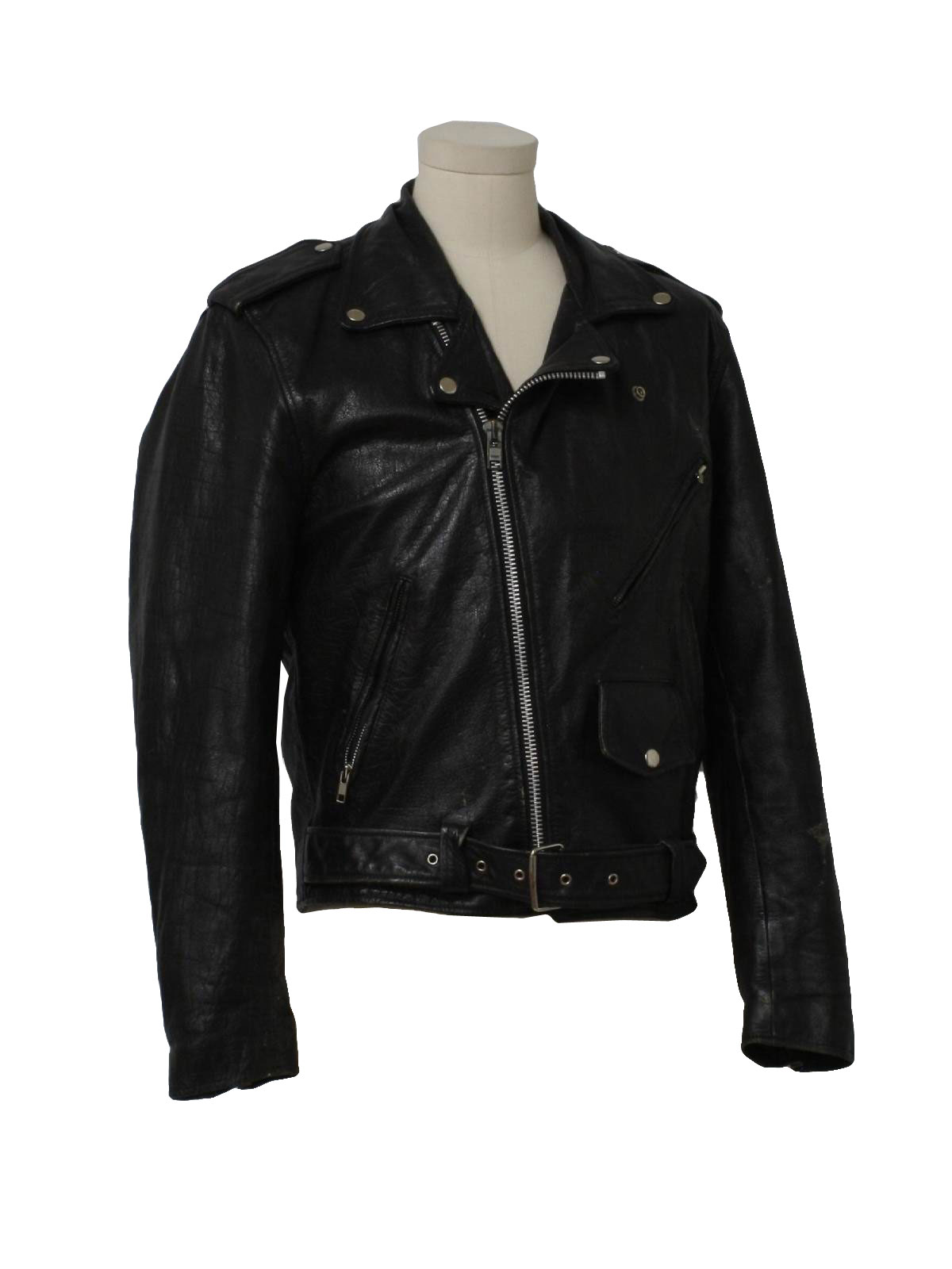 Wilsons Leather Wilsons Leather Mens Scuba Collar Leather Jacket 1
