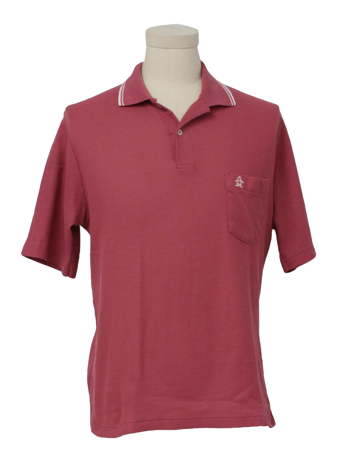 80 39 s grand slam shirt 80s grand slam mens dusty orchid for Golf shirt with penguin logo