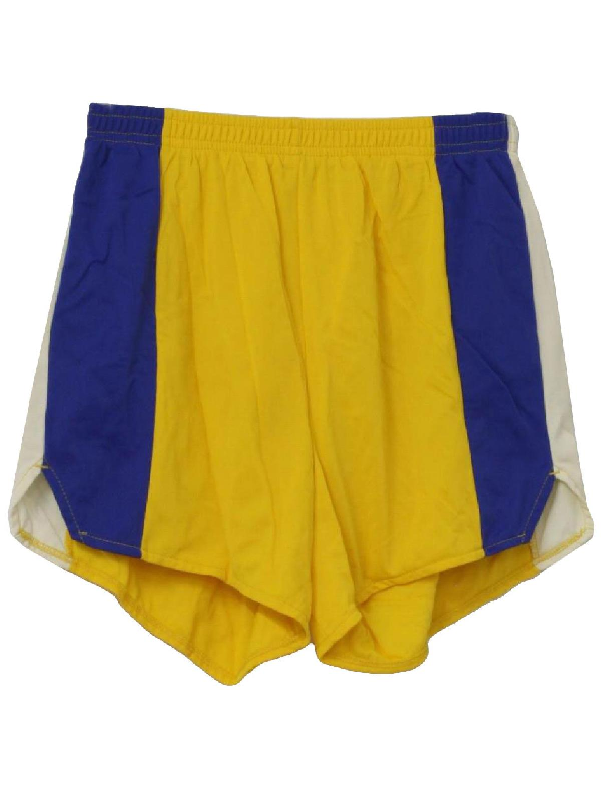 Retro Nineties Shorts: 90s -Pacific Coast Sportswear- Mens yellow ...