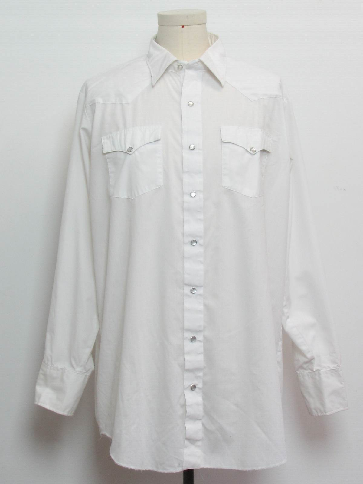 80s western shirt h bar c 70s h bar c mens crisp for Crisp white cotton shirt