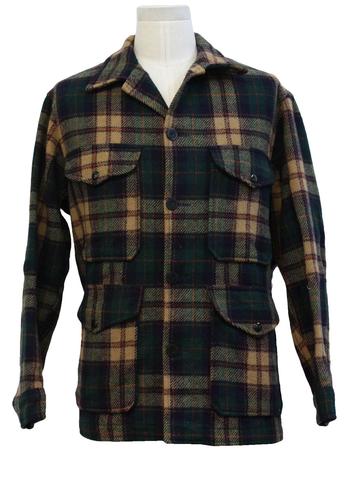 Retro 1960 S Jacket Pendleton 60s Pendleton Mens Tan