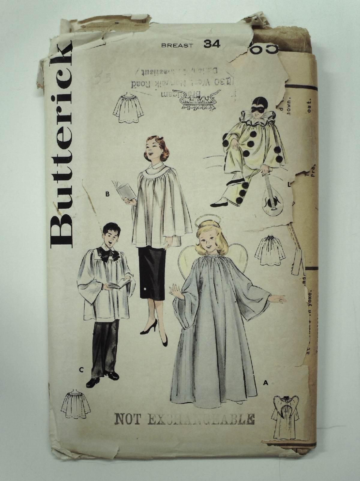 50\'s Butterick Pattern No. 6596 Sewing Pattern: 50s -Butterick ...