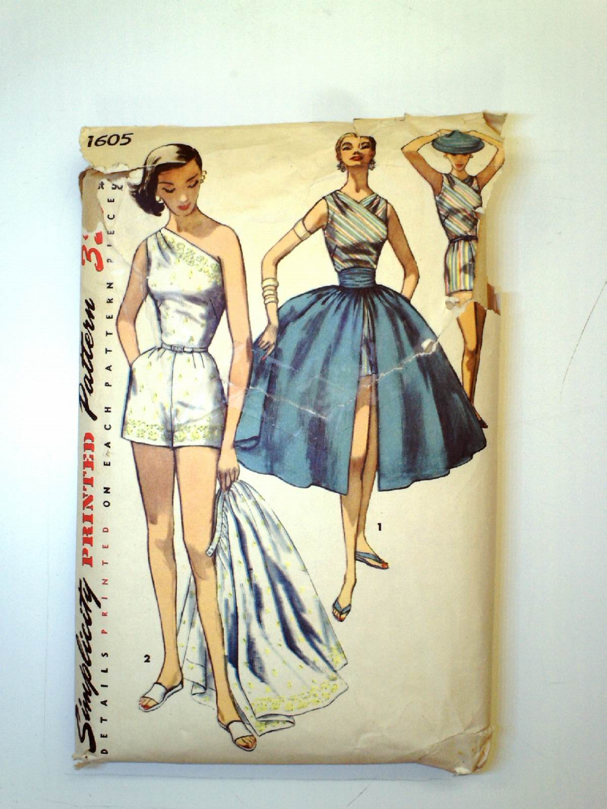 49d6760837a6 Retro 50s Sewing Pattern (Simplicity Pattern No. 1605)   50s ...