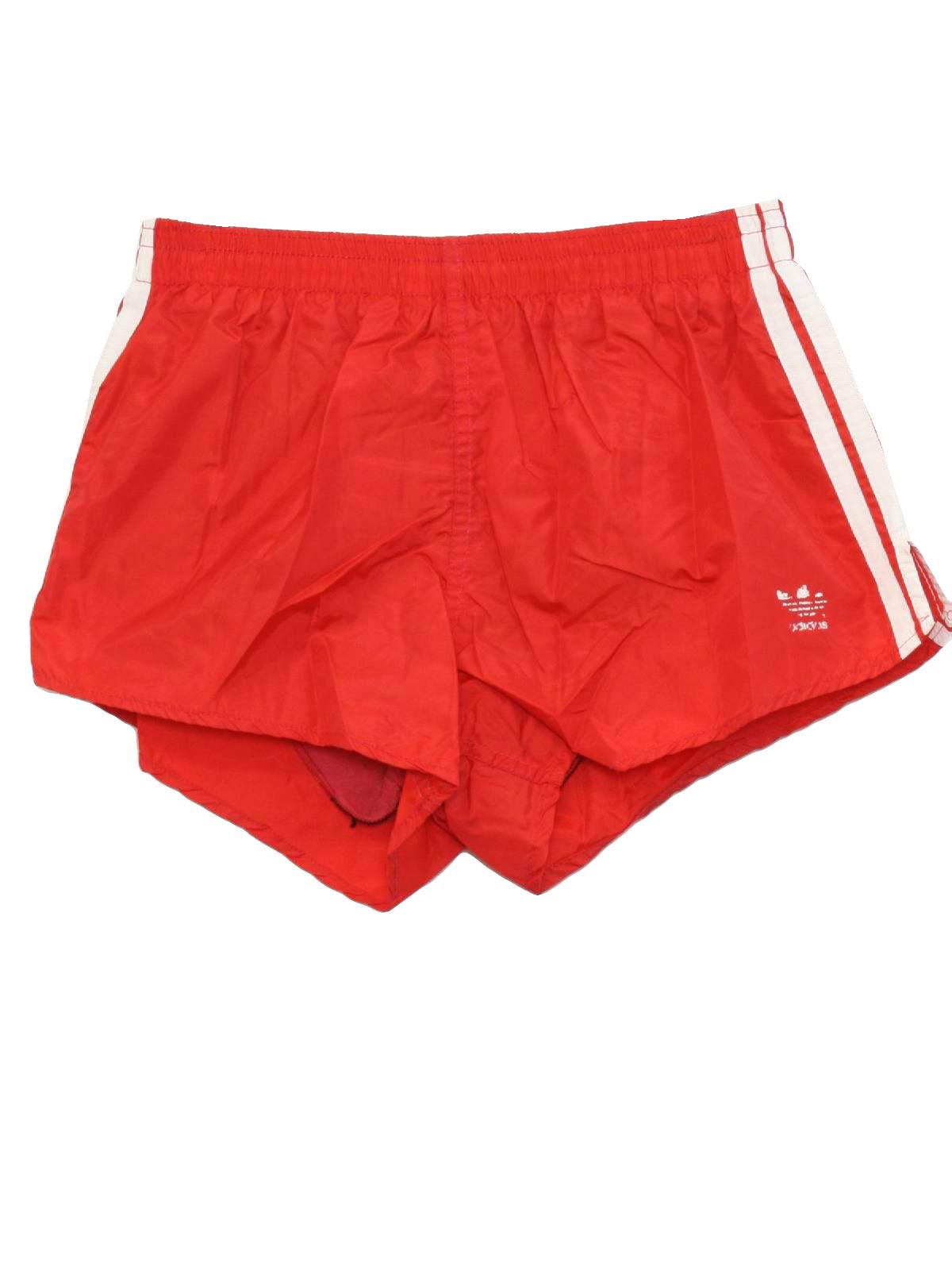 Retro Eighties Swimsuit Swimwear 80s Adidas Made In Usa