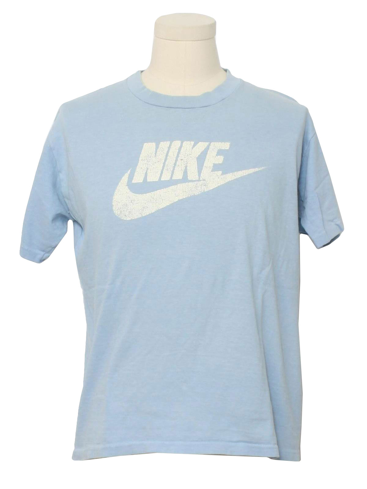 Seventies nike made in usa t shirt 70s nike made in usa Light blue t shirt mens