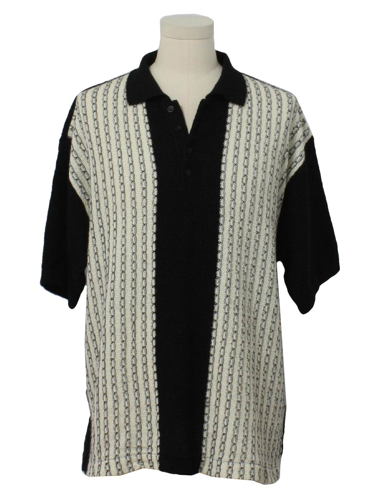 80s Knit Shirt (Kennington): 80s -Kennington- Mens black ...
