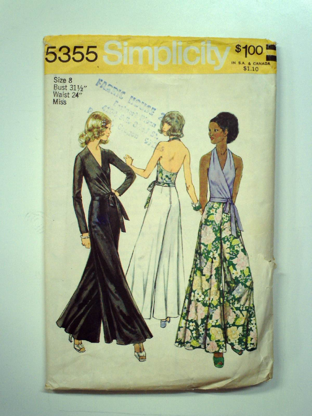 70s vintage simplicity sewing pattern 70s simplicity pattern no 70s vintage simplicity sewing pattern 70s simplicity pattern no 5355 misses wrap and tie blouse halter top and pants the wrap and tie blouse and jeuxipadfo Choice Image