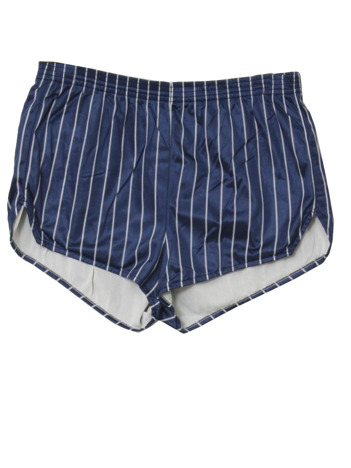 7aa93cb8e Vintage 80s Shorts: 80s -Dolfin- Mens blue and white vertical stripe ...