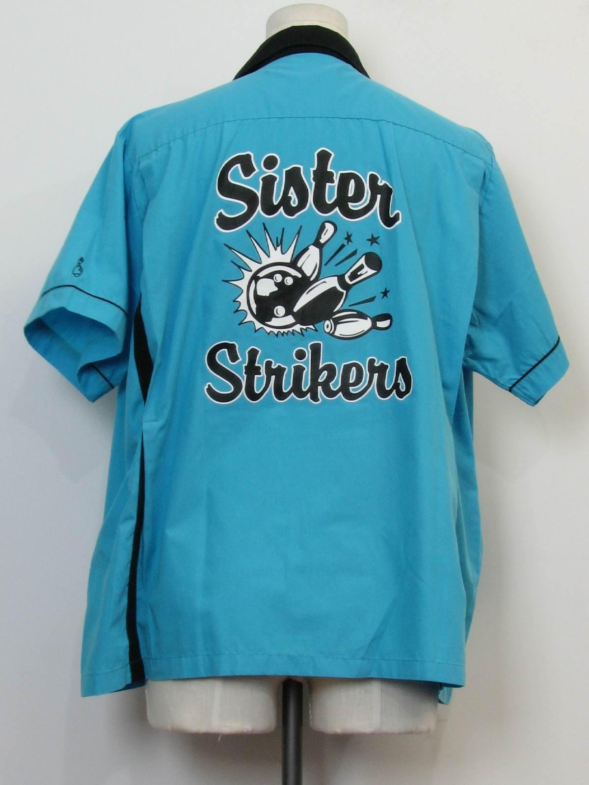 a7bec5cc 90s Retro Bowling Shirt: 90s -Cruisin USA- Unisex sky blue ...