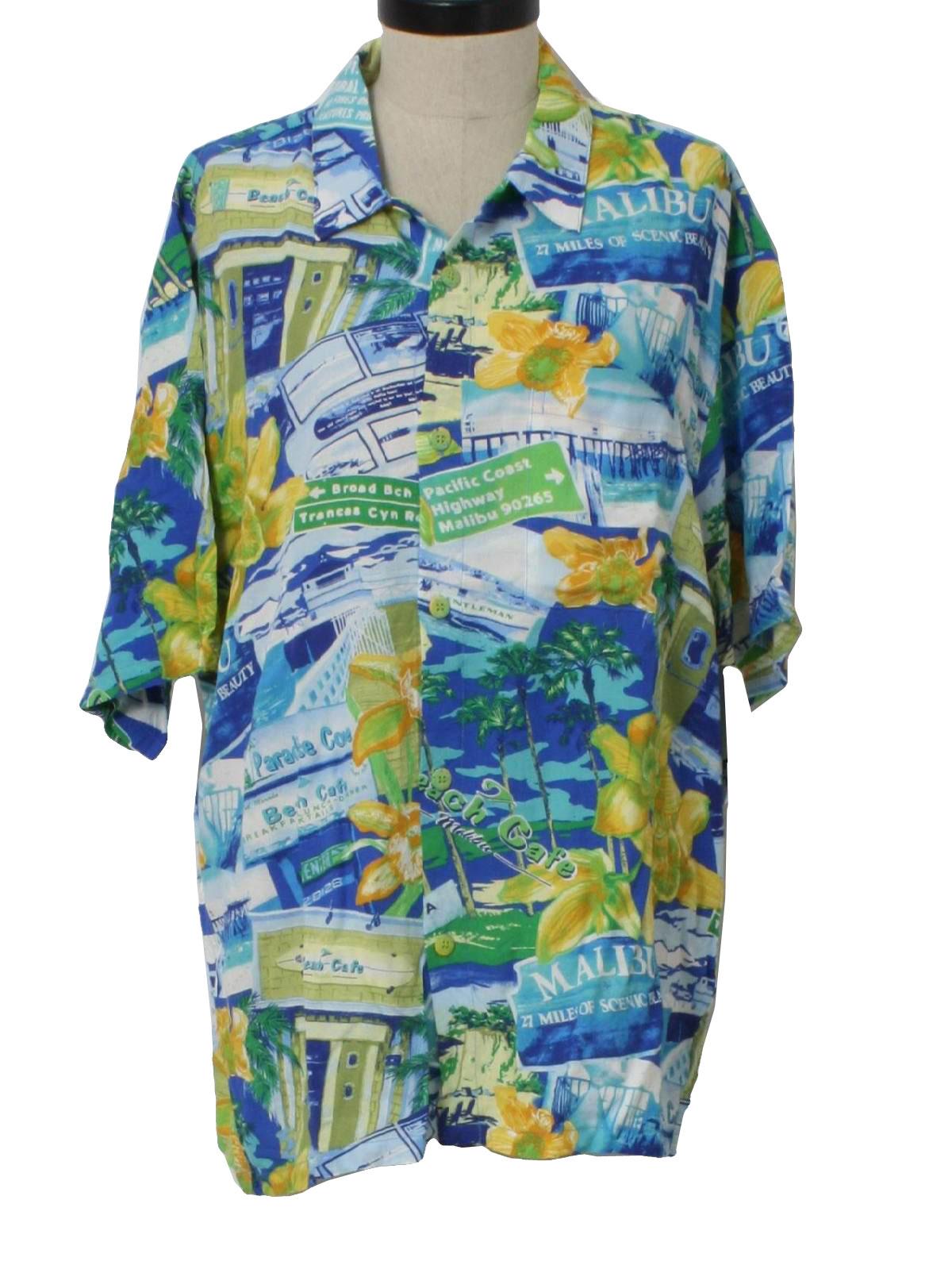 faac6a5fc7e 80s Vintage Jams World Hawaiian Shirt  80s -Jams World- Mens white  background
