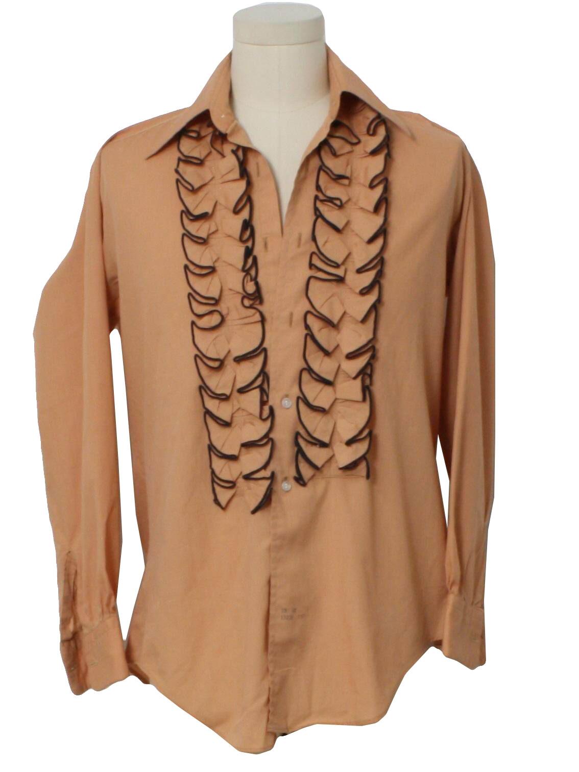 1970 39 s shirt delton ny 70s delton ny mens dusty for Mens dress shirts with cufflink holes