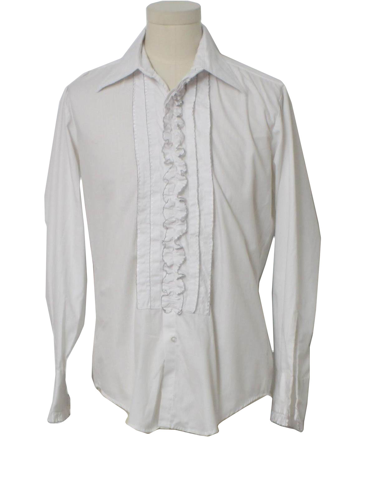 70 39 S Vintage Shirt 70s After Six Mens White And Black