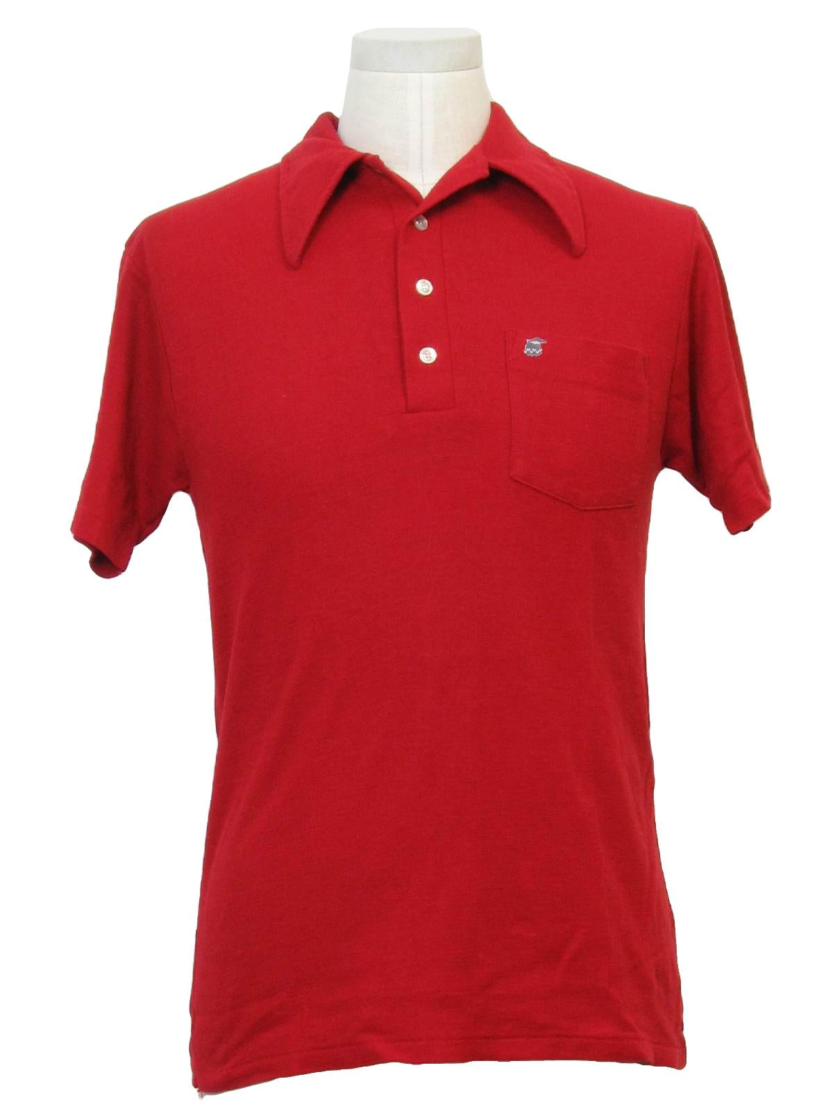 70s vintage kmart shirt 70s kmart mens red polyester for Kmart button up shirts