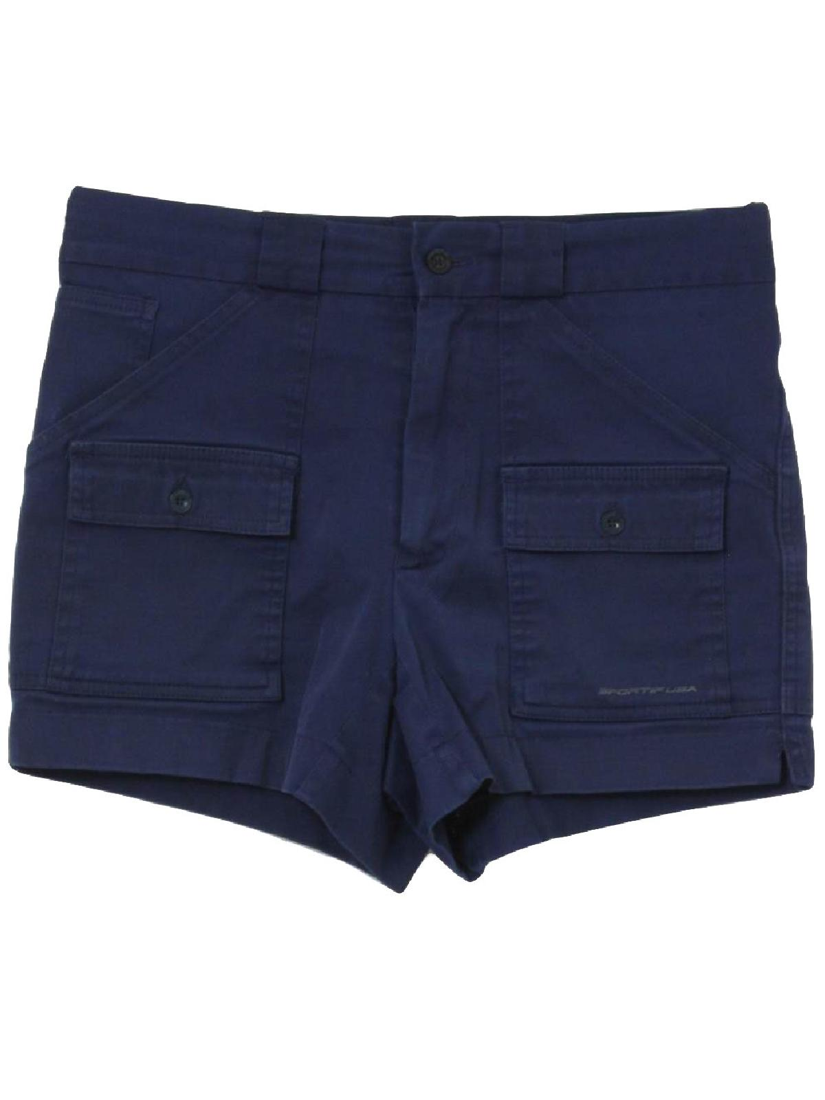Retro 90's Shorts: 90s (80s look) -Sportif- Mens navy blue ...