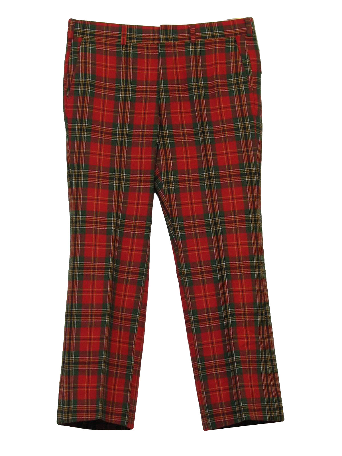 Well-liked Seventies Vintage Pants: 70s -Lord Jeff- Mens red, green, sandy  MJ73