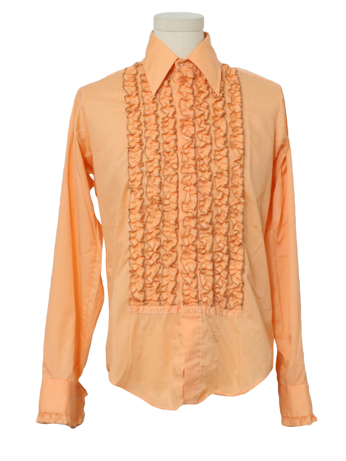 elegant and sturdy package durable in use hot-selling latest 1970's Lion of Troy Mens Ruffled Tuxedo Shirt