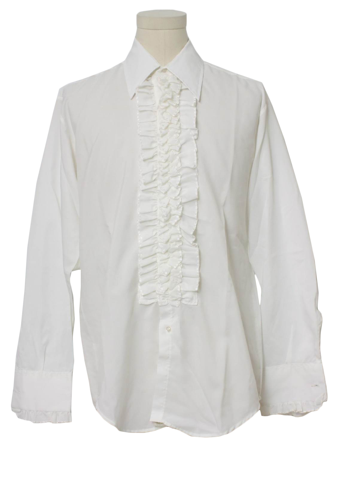 Vintage 1970 39 S Shirt 70s After Six Mens White