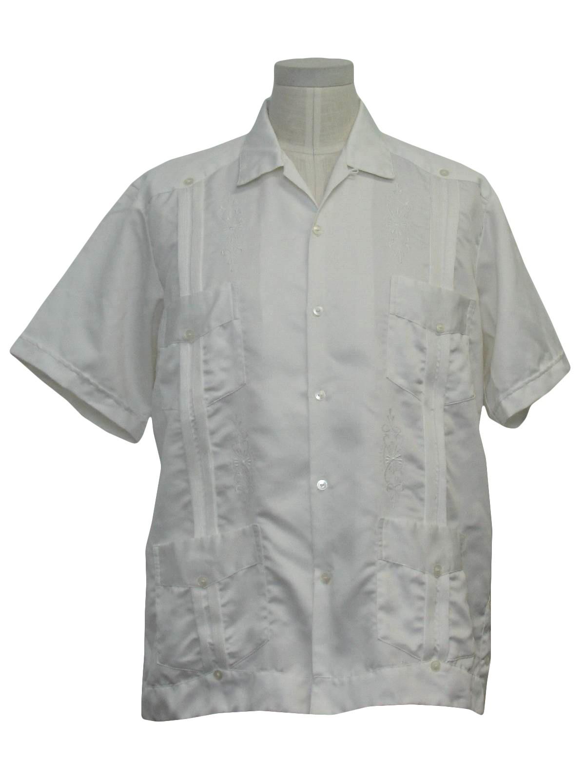 Mexican Wedding Shirt.1970 S Maya Real Mens Guayabera Shirt