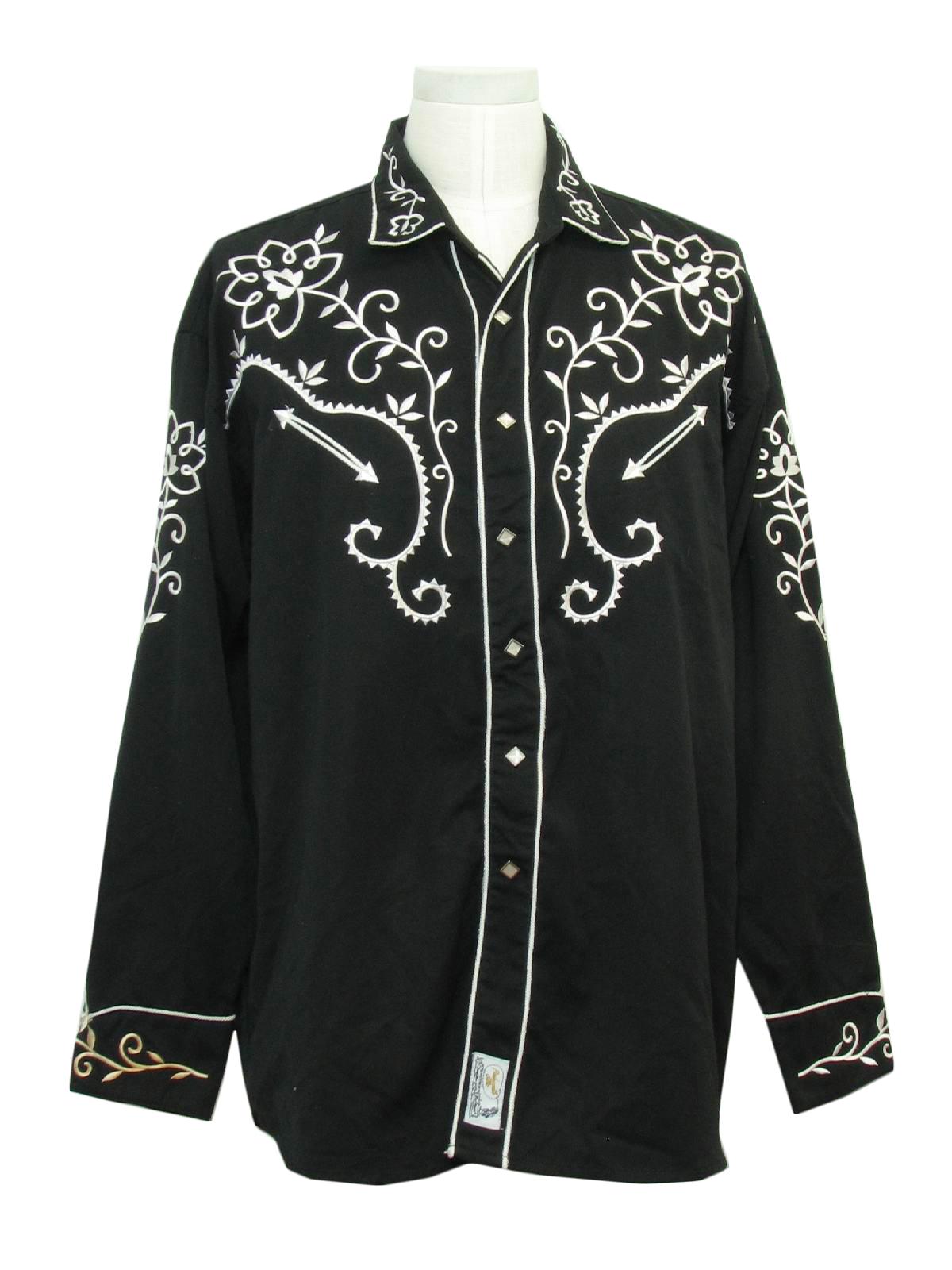 90s Western Shirt Panhandle Slim Retro Western Wear 90s