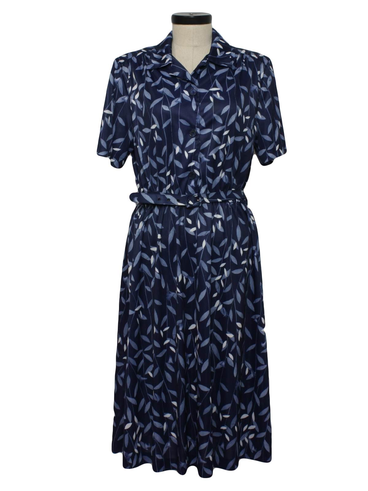 80s Retro Disco Dress 80s Blair Boutique Womens Navy