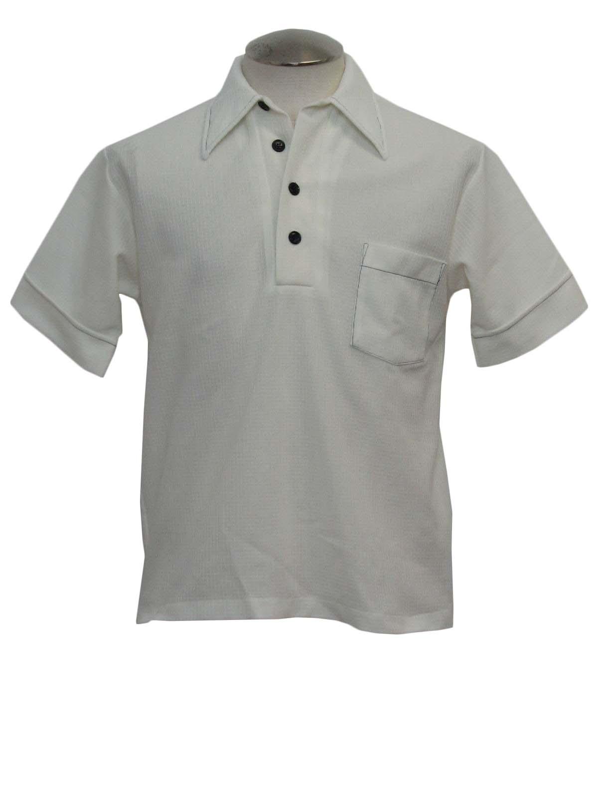 Seventies vintage shirt 70s jockey mens white light for Jockey full sleeve t shirts india