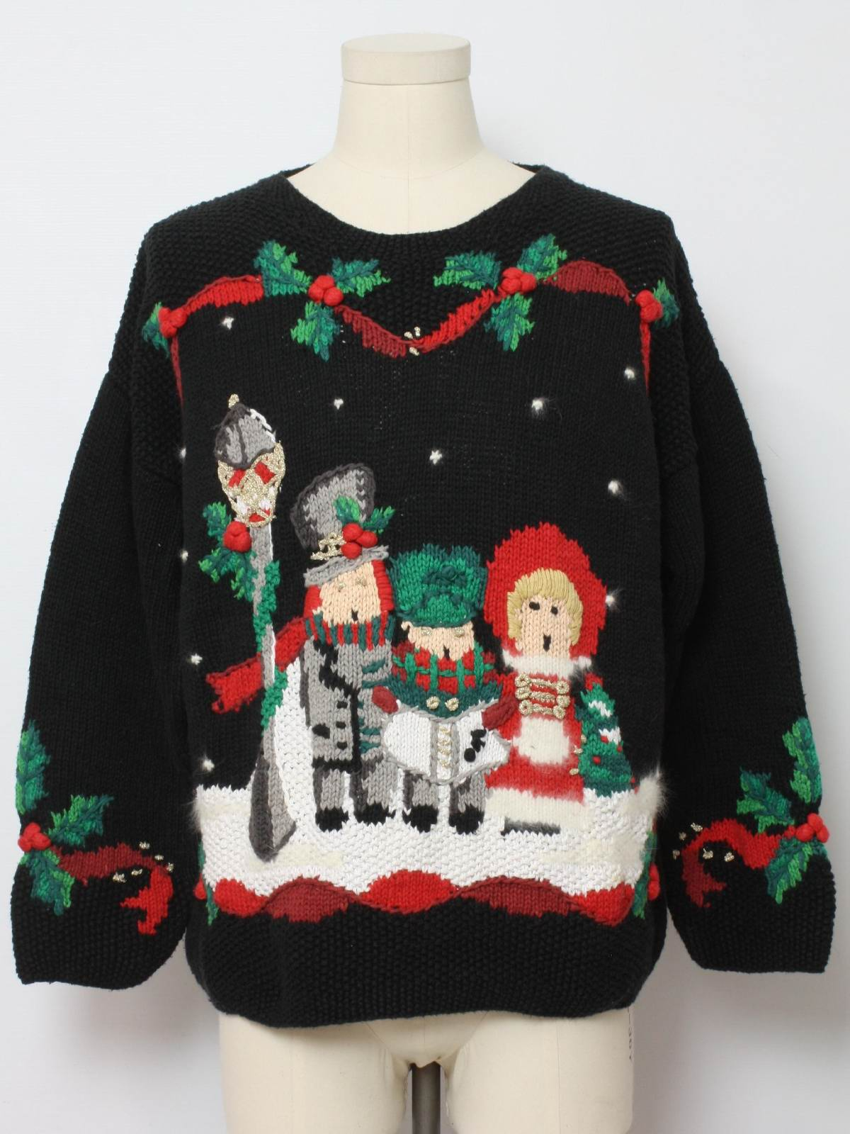 Hand Knit Amazingly Ugly Christmas Sweater: retro look -Lauren ...