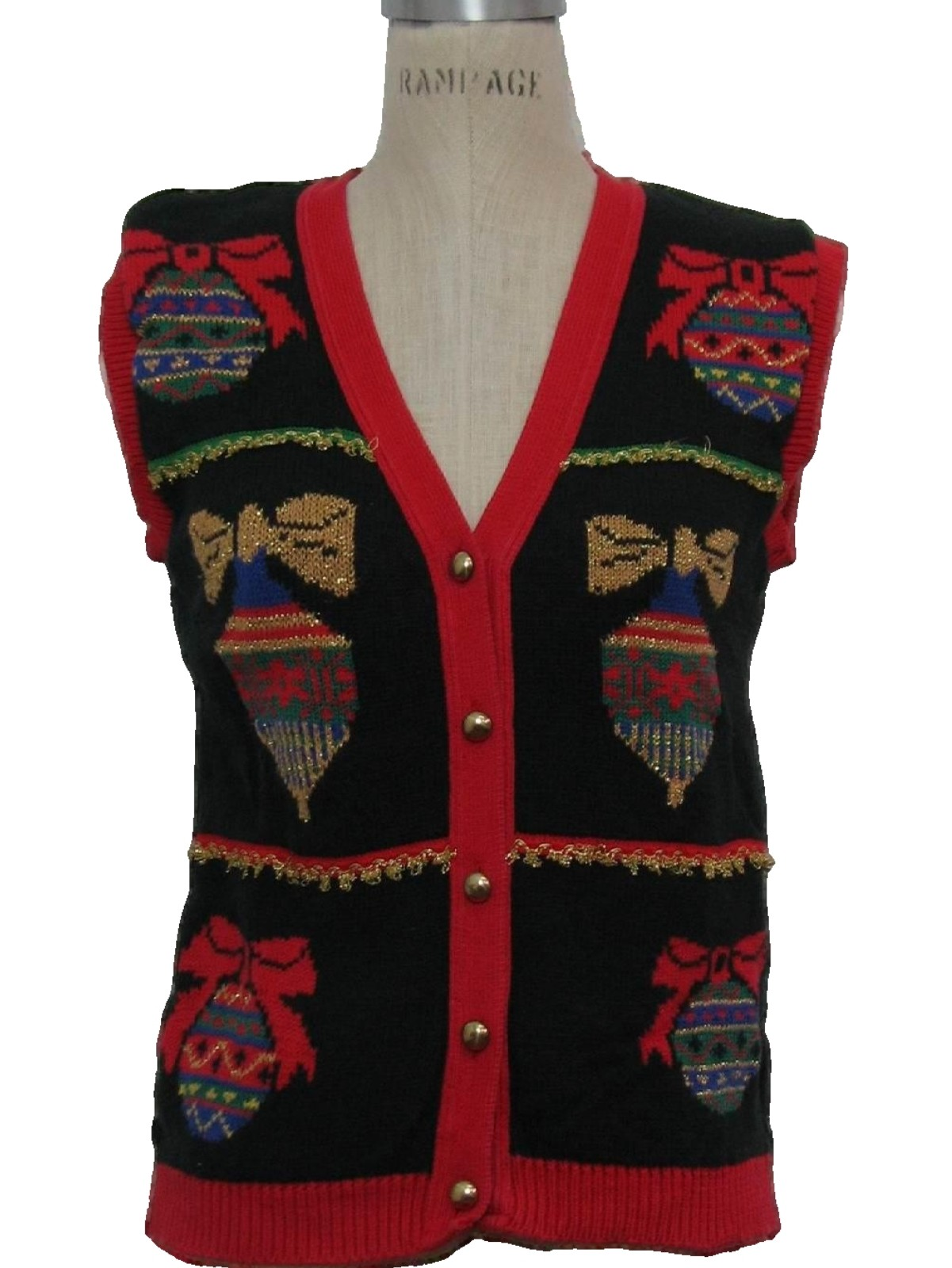 Eighties Womens or Girls Vintage Ugly Christmas Sweater Vest: 80s ...