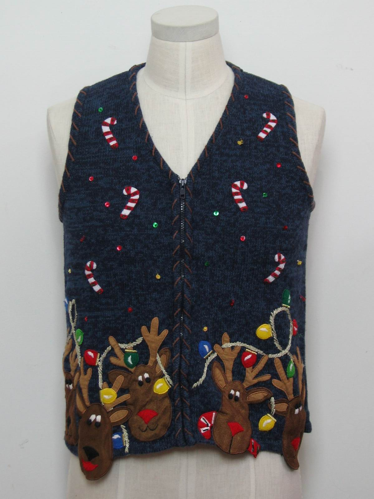 Womens ugly christmas sweater vest austin clothing company womens